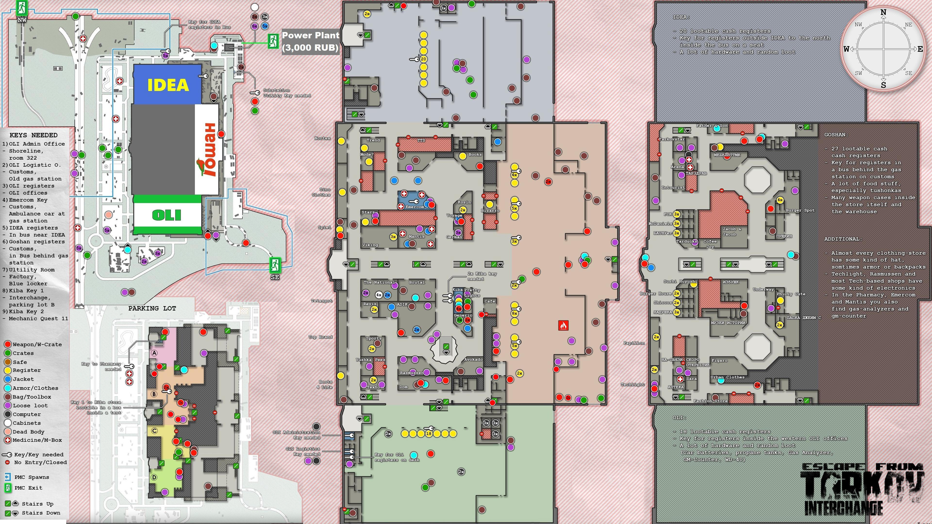 Escape From Tarkov Customs Loot Map World Map Atlas